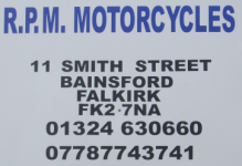 motorcycle servicing workshop sign